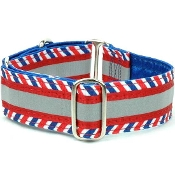 "Patterned Ribbon Collars, 1.5"" Wide, for Dogs over 45 lbs"