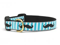 "Dog Collars: 5/8"" or 1"" Wide Mustache Collar"