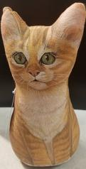 Kitty Orange Tabby: Soft Weighted Fabric Beanie