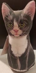 Kitty Tuxedo: Soft Weighted Fabric Beanie