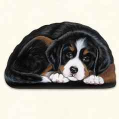 Pupper Weight Bernese: Soft Weighted Fabric Beanie