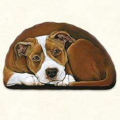 Pupper Weight Pit Bull: Soft Weighted Fabric Beanie