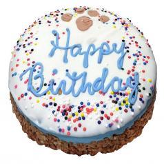 "Treats: Birthday Blue Granola ""Cake"""