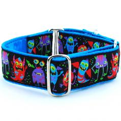 "Dog Collars:  Monster City 1.5"" Wide"