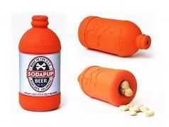 Dog Toy:  Soda Pup Beer Bottle Dispenser Toy