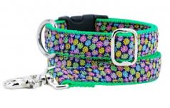 "Dog Collars: 1"" Wide Margarita Daisy Collar"