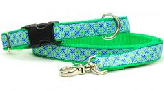 "Dog Collars: 1"" Wide Lucky Clover Collar"