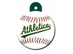 Engraved ID Tag:  Large Baseball Oakland Athletics
