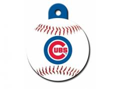 Engraved ID Tag:  Large Baseball Chicago Cubs