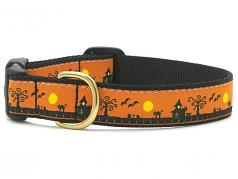 "Dog Collars: 5/8"" or 1"" Wide Holiday, Halloween Spooky Town Clip Collar"