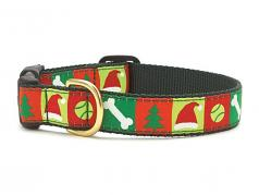 "Dog Collars: 5/8"" or 1"" Wide Holiday, Christmas List Clip Collar"
