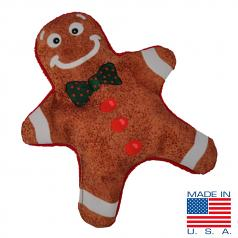 Dog Toy: Christmas Gingerbread Man Crinkle Cordura Dog Toy (no Squeaker)