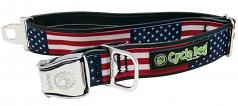 "Cycle Dog: WaterProof Stars & Stripes Collar 1.1"" or 1.5"" Widths"