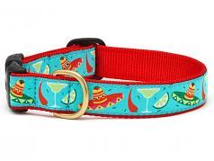 """Dog Collars: 5/8"""" or 1"""" Wide Cinco De Mayo Clip Collar"""