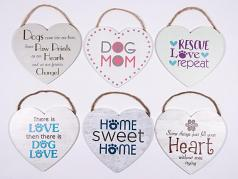 Wooden Sign: Heart Wooden Sign with Rope 6 Designs