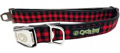 "Cycle Dog: WaterProof Red Plaid Collar 1.1"" or 1.5"" Widths"