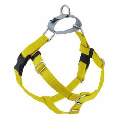 YELLOW Freedom No-Pull Harness with Silver Back Loop