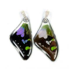 Jewelry:  Butterfly Purple Spotted Swallowtail Wing