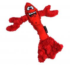 Dog Toy: Larry the Lobster Plush Squeaker & Crinkle Dog Toy