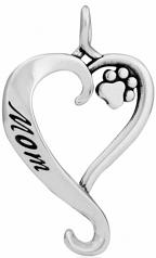 Dog Mom Pendant- Sterling Silver