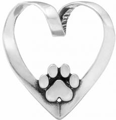 Heart Dog Pendant- Sterling Silver