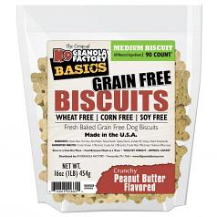 Treats: K-9 Granola Simply Biscuits Peanut Butter Small or Medium Size Biscuit