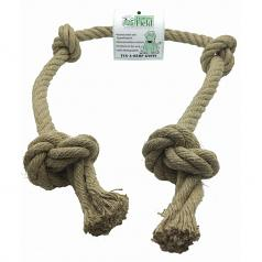 Dog Toy:  Natural Hemp Knots 4' Long Rope