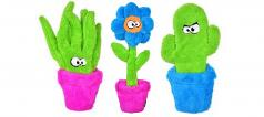 Dog Toy:  Cycle Dog Duraplush Potted Plants Set of (3) Toys