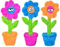 Dog Toy:  Cycle Dog Duraplush Potted Plants Flower