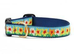 "Dog Collars: 5/8"" or 1"" Wide Daffodil Clip Collar"