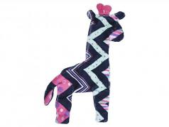 Dog Toy: Floppy Giraffe Unstuffed Squeaker Toy Available in 2 Sizes