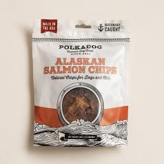 Treats:  PolkaDog 100% Salmon Chips