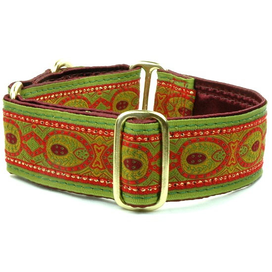 "Dog Collars:  Fall Peacock Copper 1.5"" Wide"
