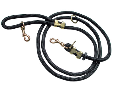 Lead/Leash: Marine Grade, 10-configuration Leash dogs 40lbs & up