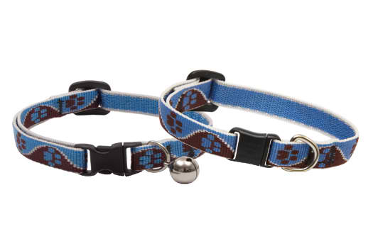 Lupine Cat Collar: Pattern Muddy Paws with our without a bell