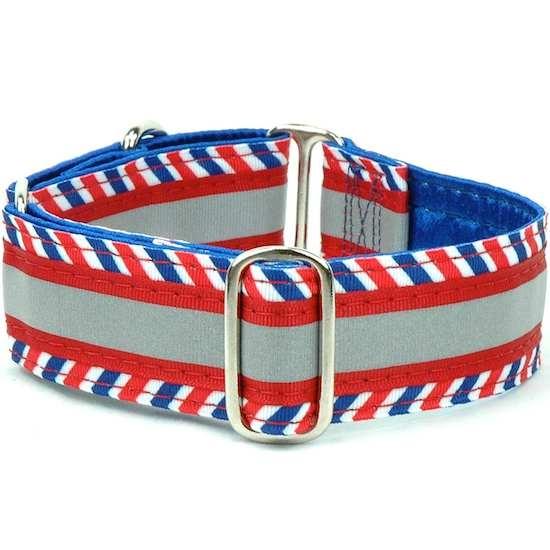 "Dog Collars:  Chevron Patriot 1.5"" Wide"