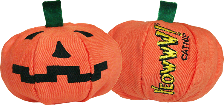 Cat Toy:  Holiday Pumpkin Yeowww-loWeen Stuffed with Organic Catnip
