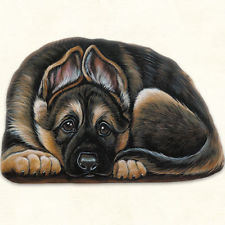 Pupper Weight German Shepherd: Soft Weighted Fabric Beanie