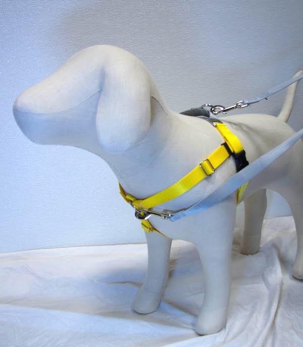 "YELLOW Freedom No-Pull Harness with Silver Back Loop (1"" Width ONLY)"