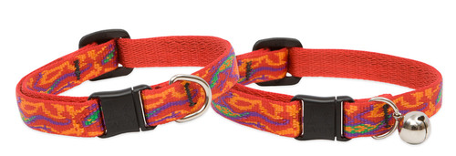 Lupine Cat Collar: Pattern Go Go Gecko with or without a bell