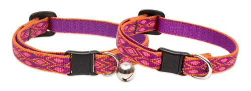 Lupine Cat Collar: Pattern Alpen Glow with or without a bell