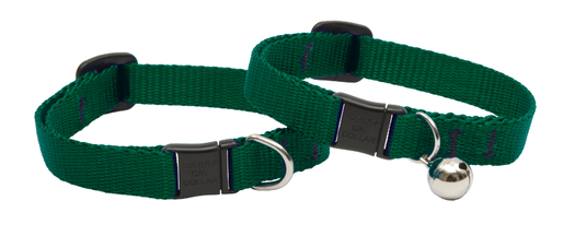 Lupine Cat Collar: Solid Green with or without a bell