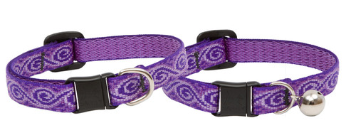 Lupine Cat Collar: Pattern Jellyroll with or without a bell