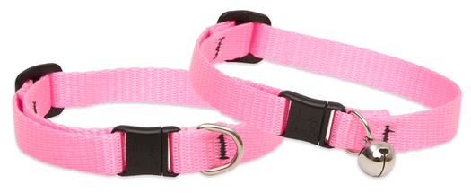 Lupine Cat Collar: Solid Pink with or without a bell