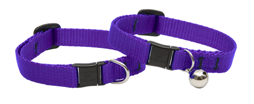 Lupine Cat Collar: Solid Purple with or without a bell
