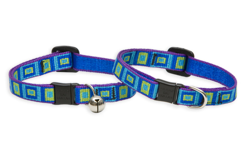 Lupine Cat Collar: Pattern Sea Glass with or without a bell
