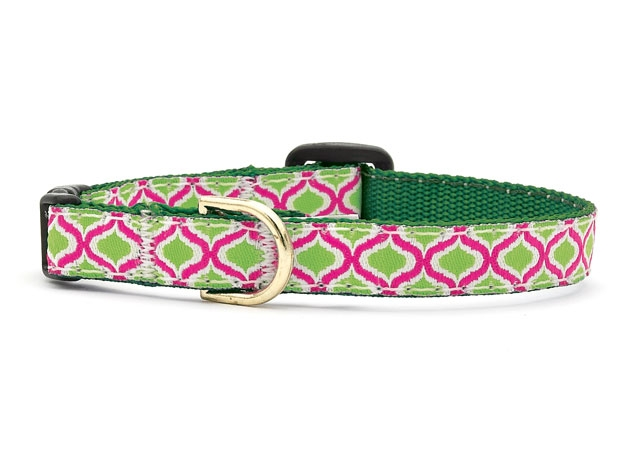 Up Country Cat Collar: Green Kismet