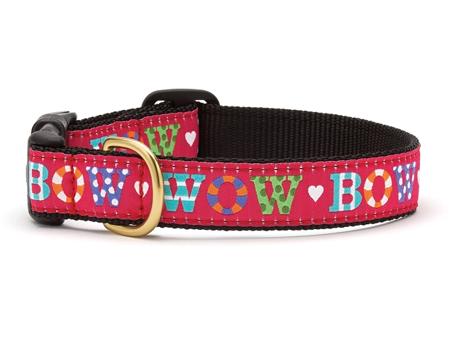 "Dog Collars: 5/8"" or 1"" Wide Bow Wow Clip Collar"