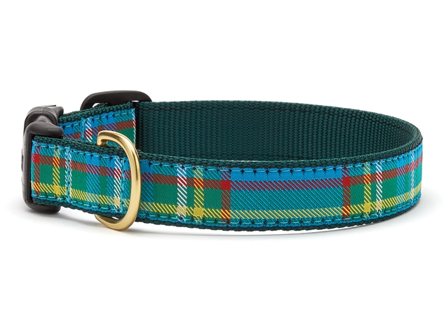 "Dog Collars: 5/8"" or 1"" Wide Kendall Plaid Clip Collar"