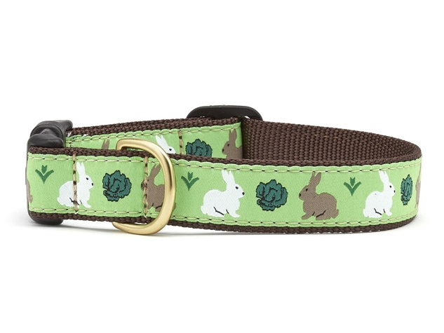 "Dog Collars: 5/8"" or 1"" Wide Garden Rabbit Collar"